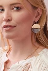 Scout Full Moon Stone Earring Rhodonite Silver