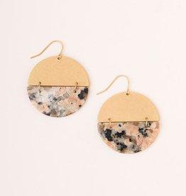 Scout Full Moon Stone Earring Rhodonite Gold