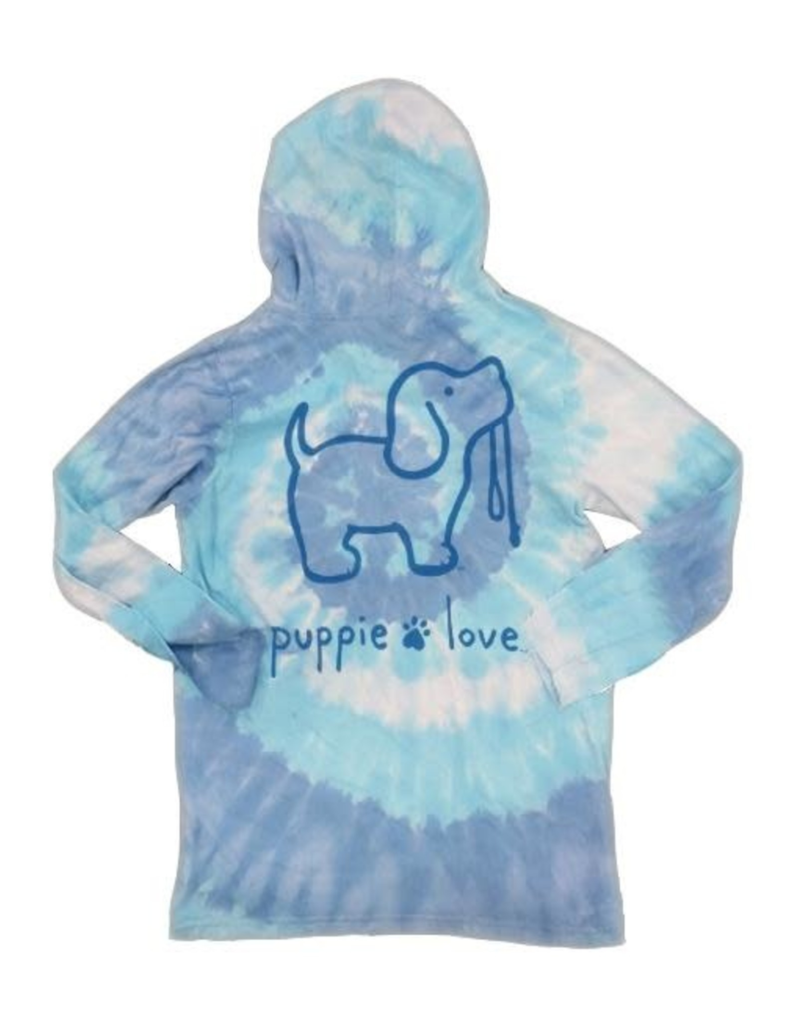 Puppie Love Puppie Love Tie Dye LS Hooded Cotton t-shirt