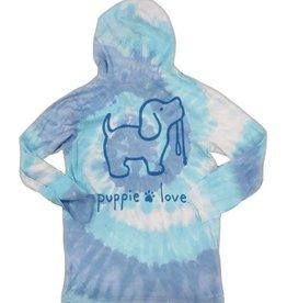 Puppie Love Puppie Love Tie Dye LS Hooded Cotton t-shirt