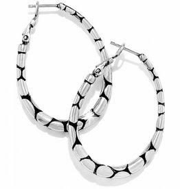 Brighton Pebble oval hoop earring