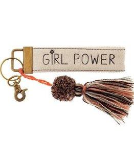 Karma Canvas Tassel Key Chain Girl Power