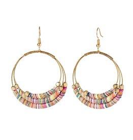 Coco & Carmen Whispers Disc Hoop Earrings