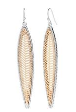 Coco & Carmen Whispers Leaf Drop Dangle Earrings