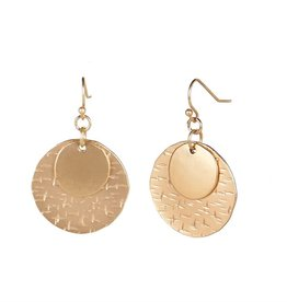 Coco & Carmen Whispers Stacked Moon Dangle Gold