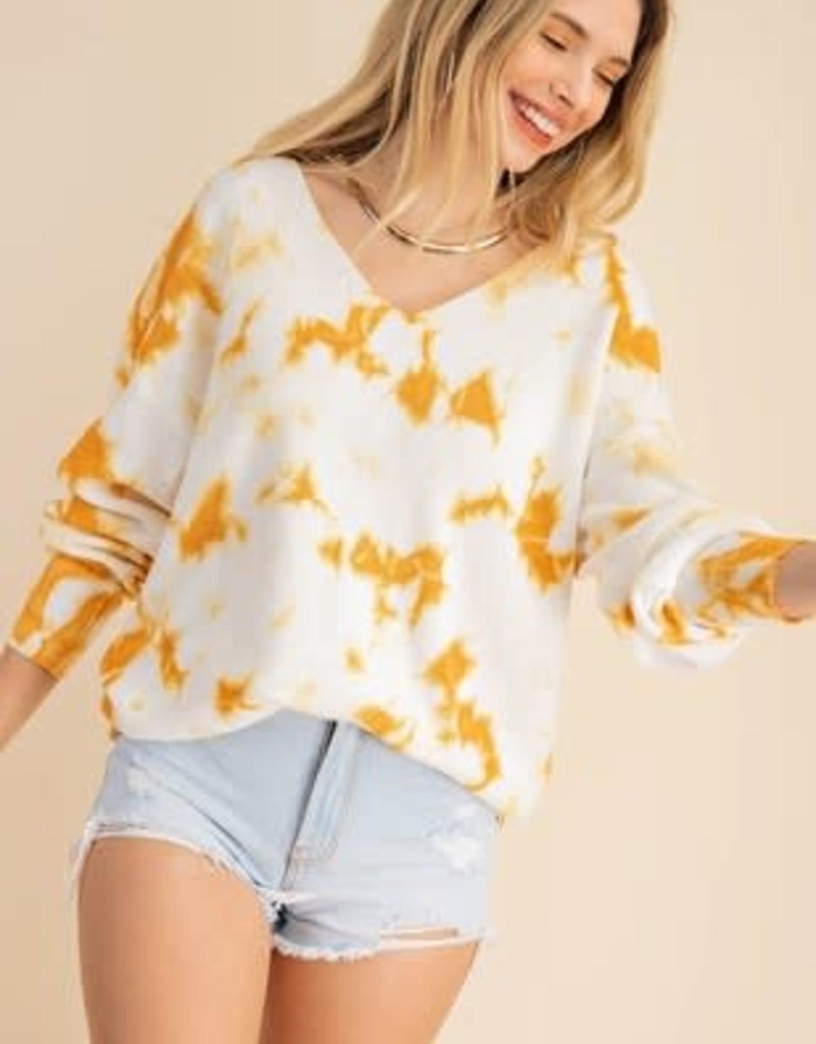 Kori America V-neck Tie Dye Sweater