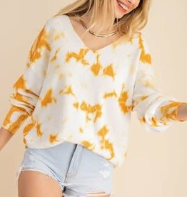 Kori America V-neck Tie Dye Sweater