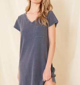 Mittoshop Washed Thermal Dress Blue
