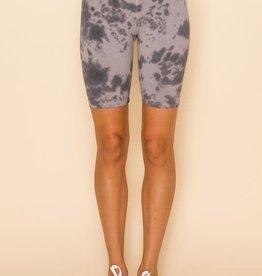 livana Tie Dye Bike Style  Shorts