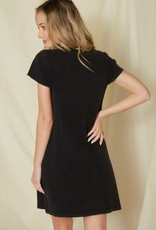 Mittoshop Washed Thermal Dress Black