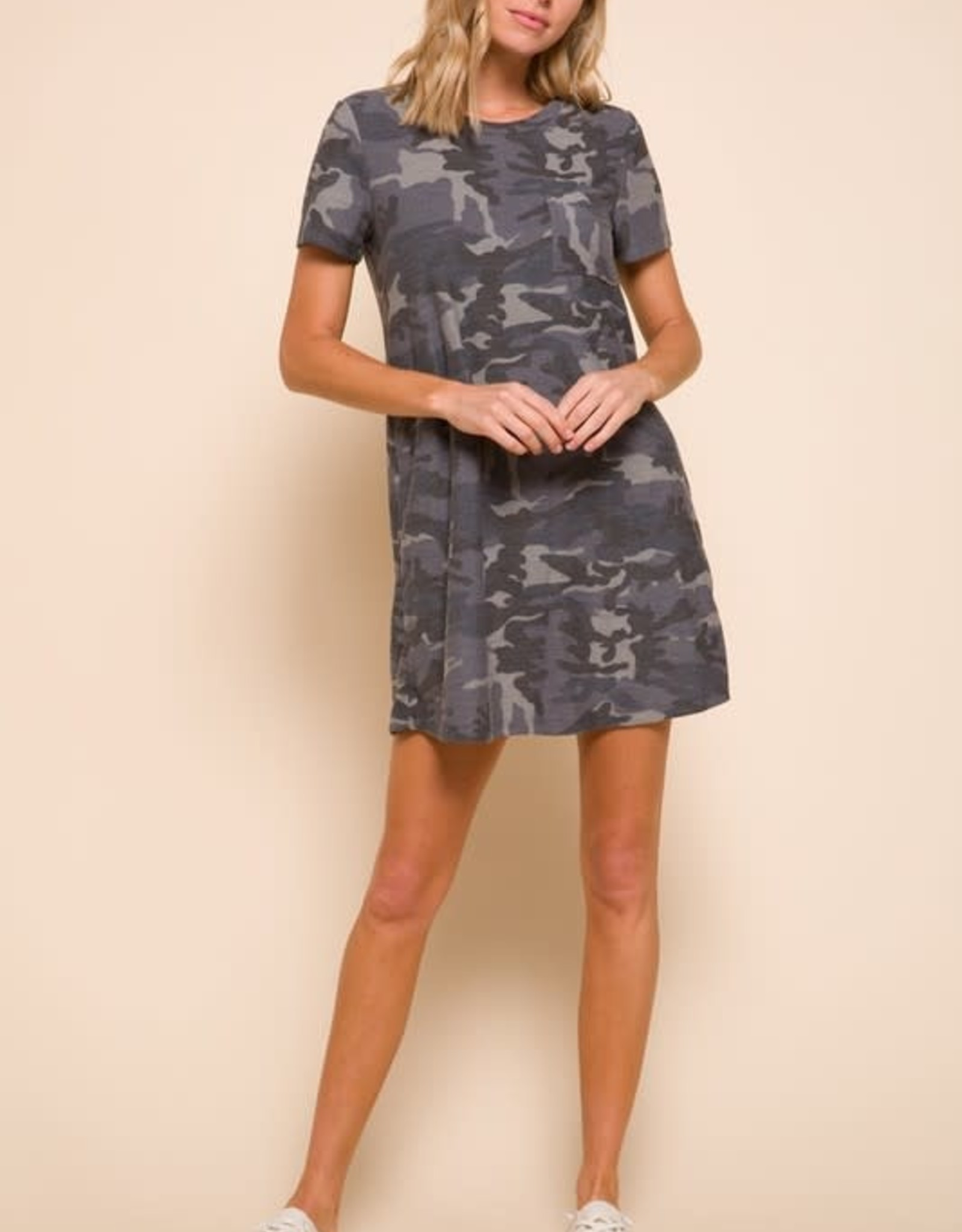 Mittoshop Camo Print One Pocket Dress