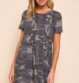 Mittoshop Camo Print One Pocket Dress