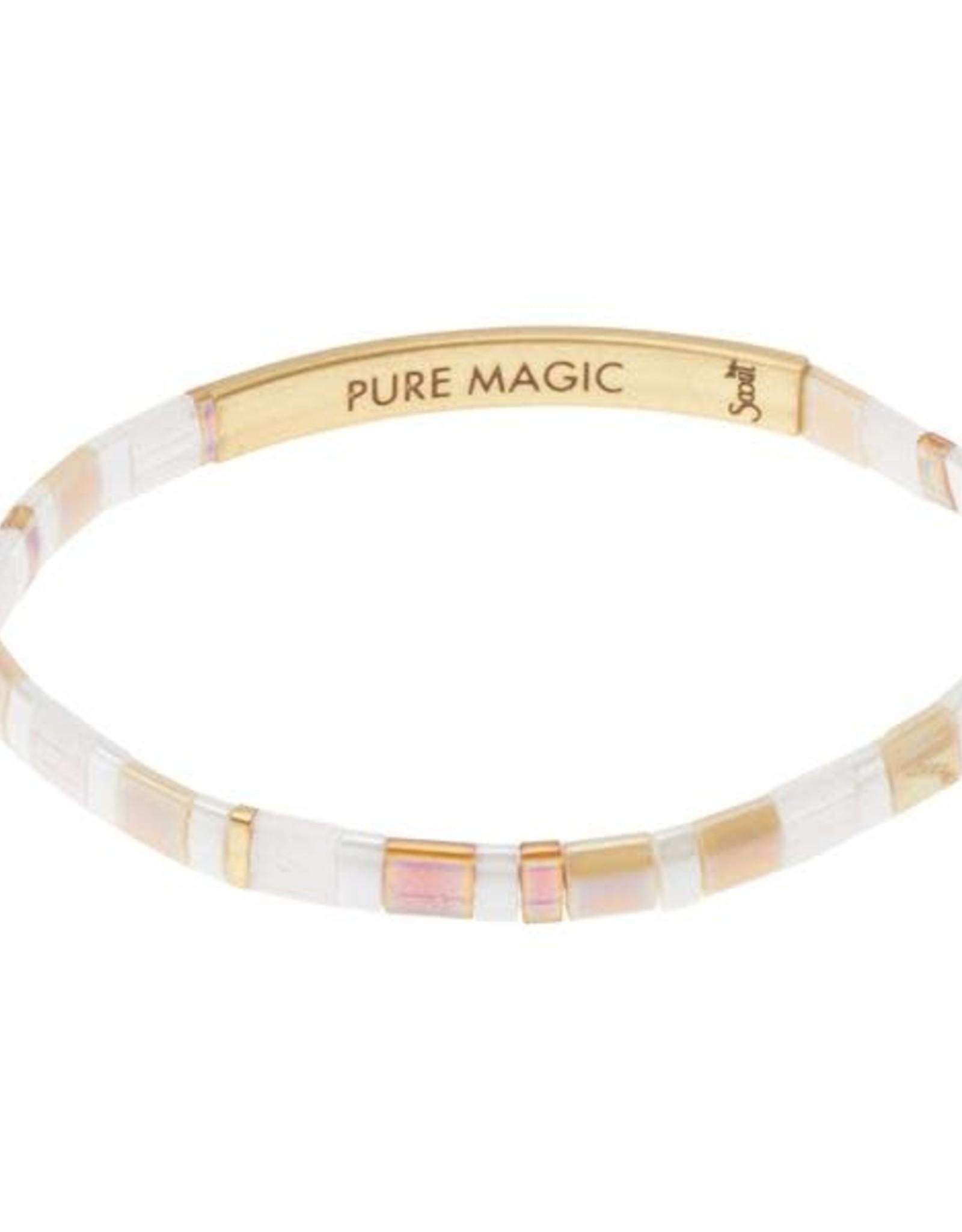 Scout Scout Good Karma Miyuki Bracelet - Pure Magic Netural/Gold