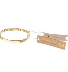 Scout Scout Good Karma Miyuki Bracelet - Gratitude Amber/Gold