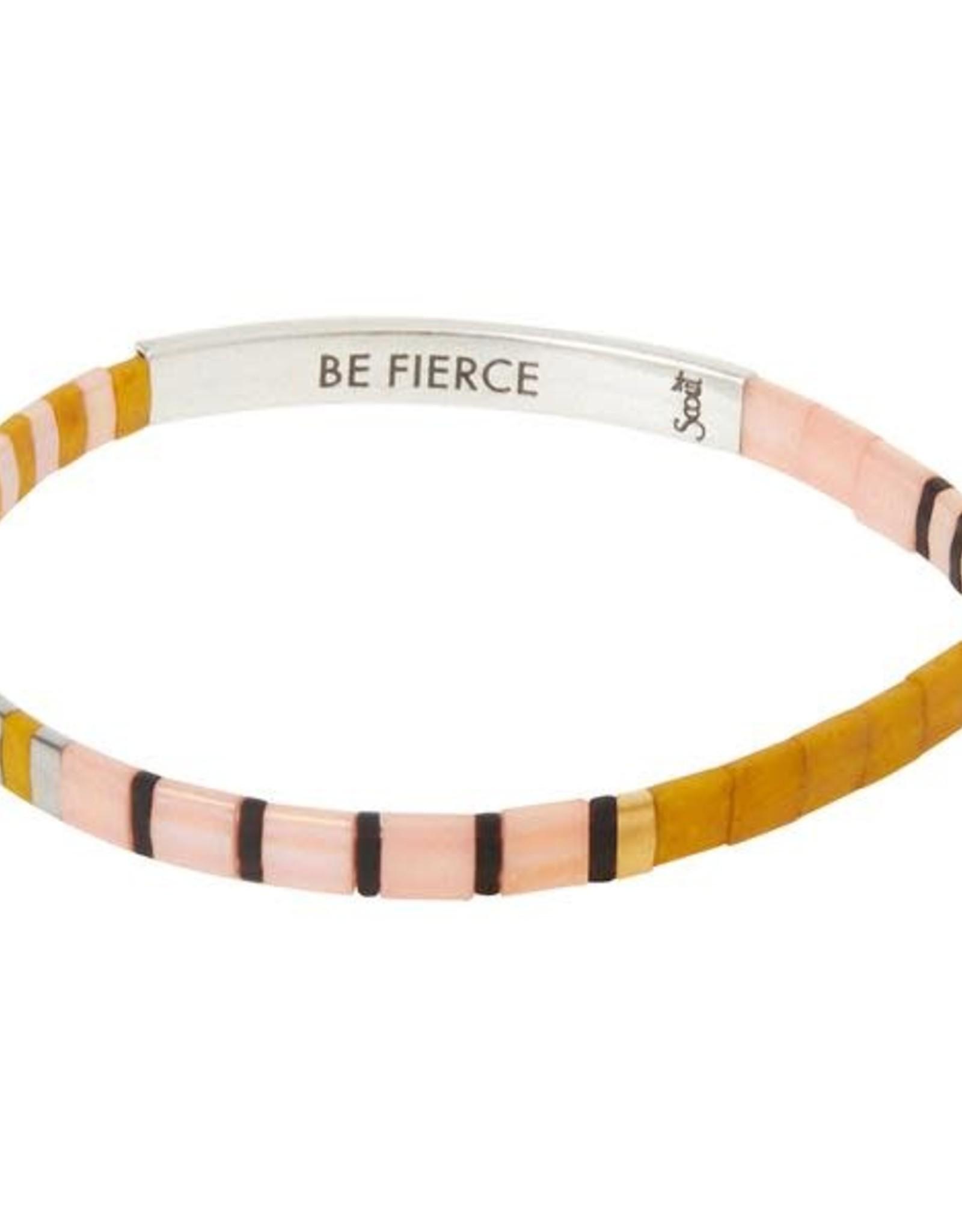 Scout Scout Good Karma Miyuki Bracelet Be Fierce - Pink