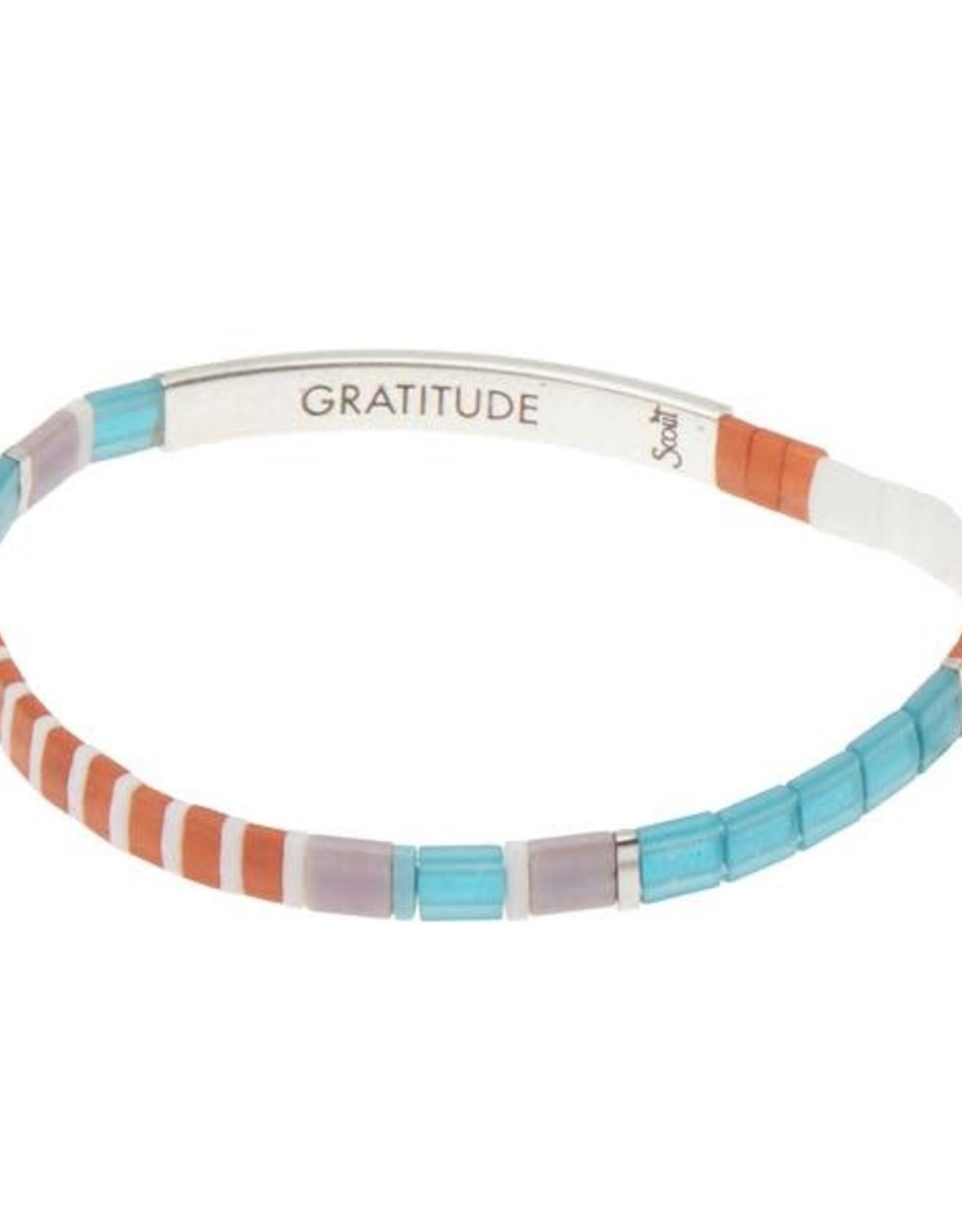 Scout Scout Good Karma Miyuki Bracelet - Gratitude Turquoise/Orange/Silver