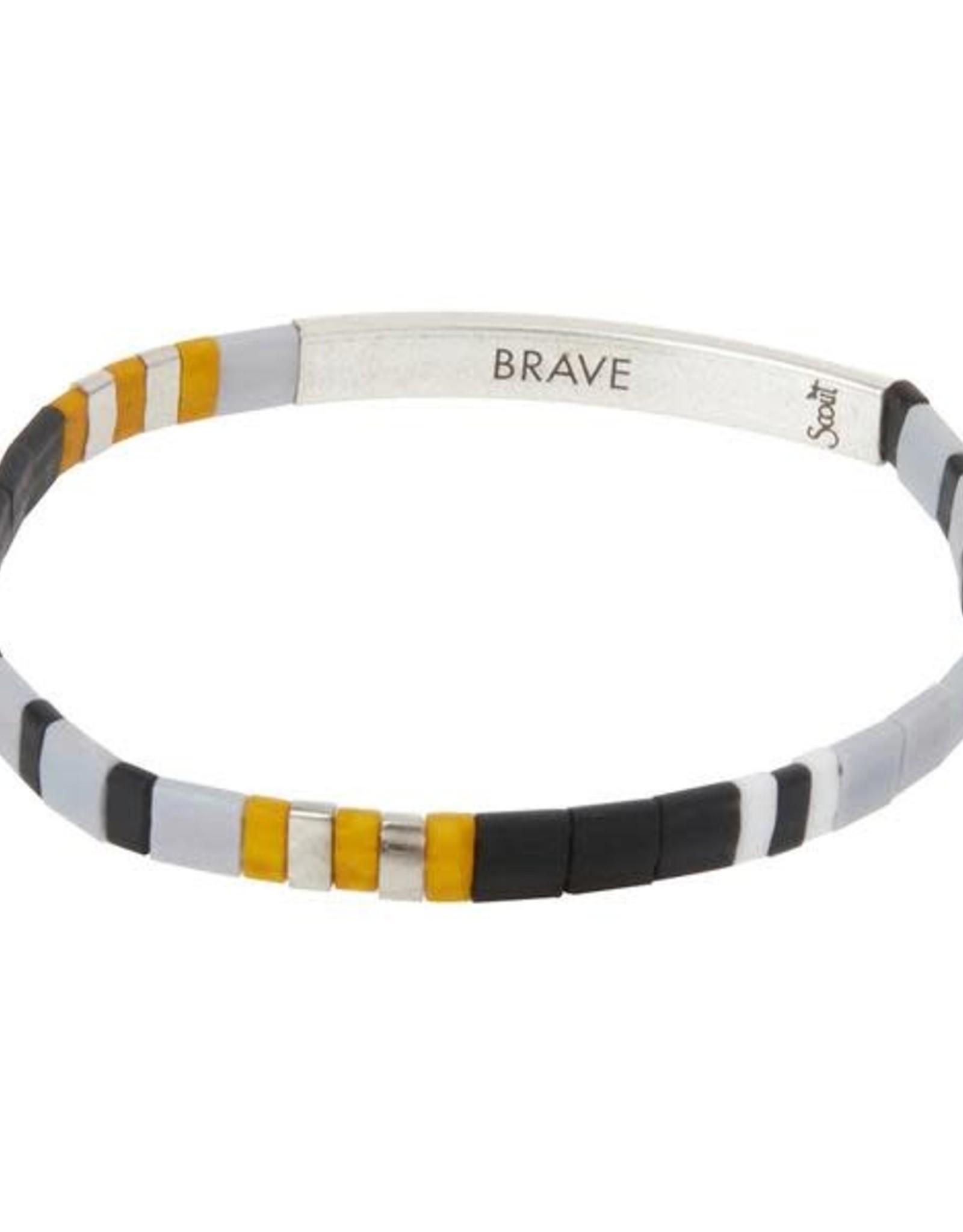 Scout Scout Good Karma Miyuki Bracelet - Brave Gray/Black