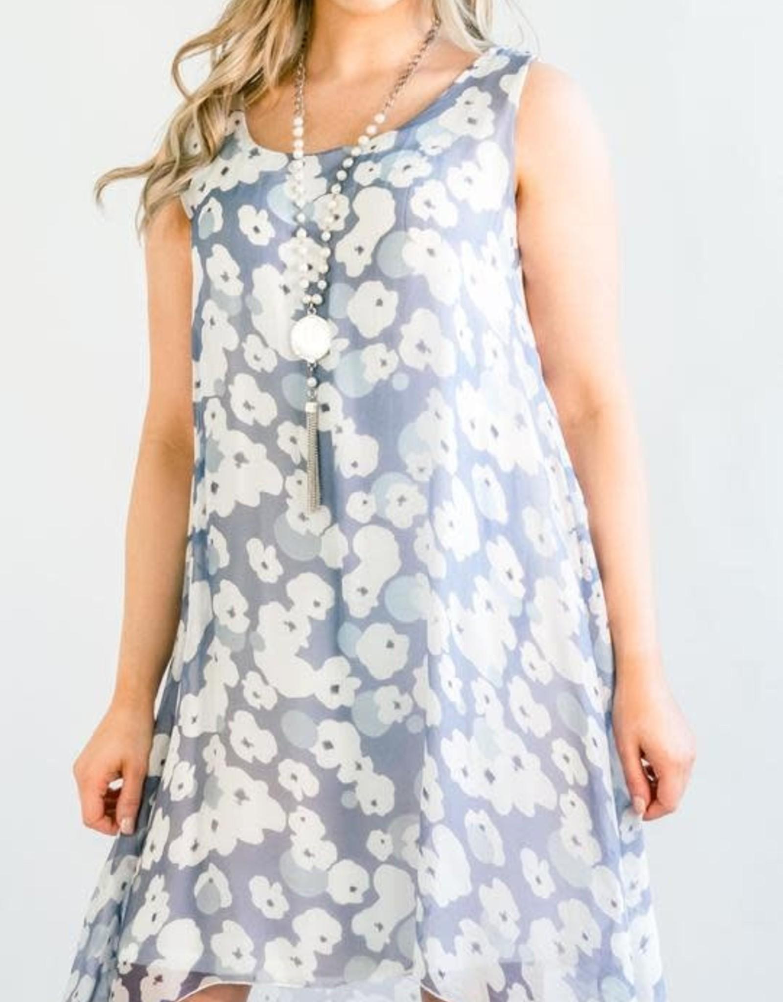 Cobblestone Cobblestone Phoebe Blue & White Dress Tunic