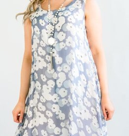 Cobblestone Cobblestone Phoebe Blue & White Dress Tunic