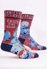 Blue Q Blue Q Mens Crazy Cat Dude