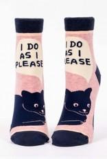 Blue Q Blue Q I Do As I Please Ankle Socks