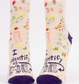Blue Q Blue Q I Identify as Me Ankle Socks