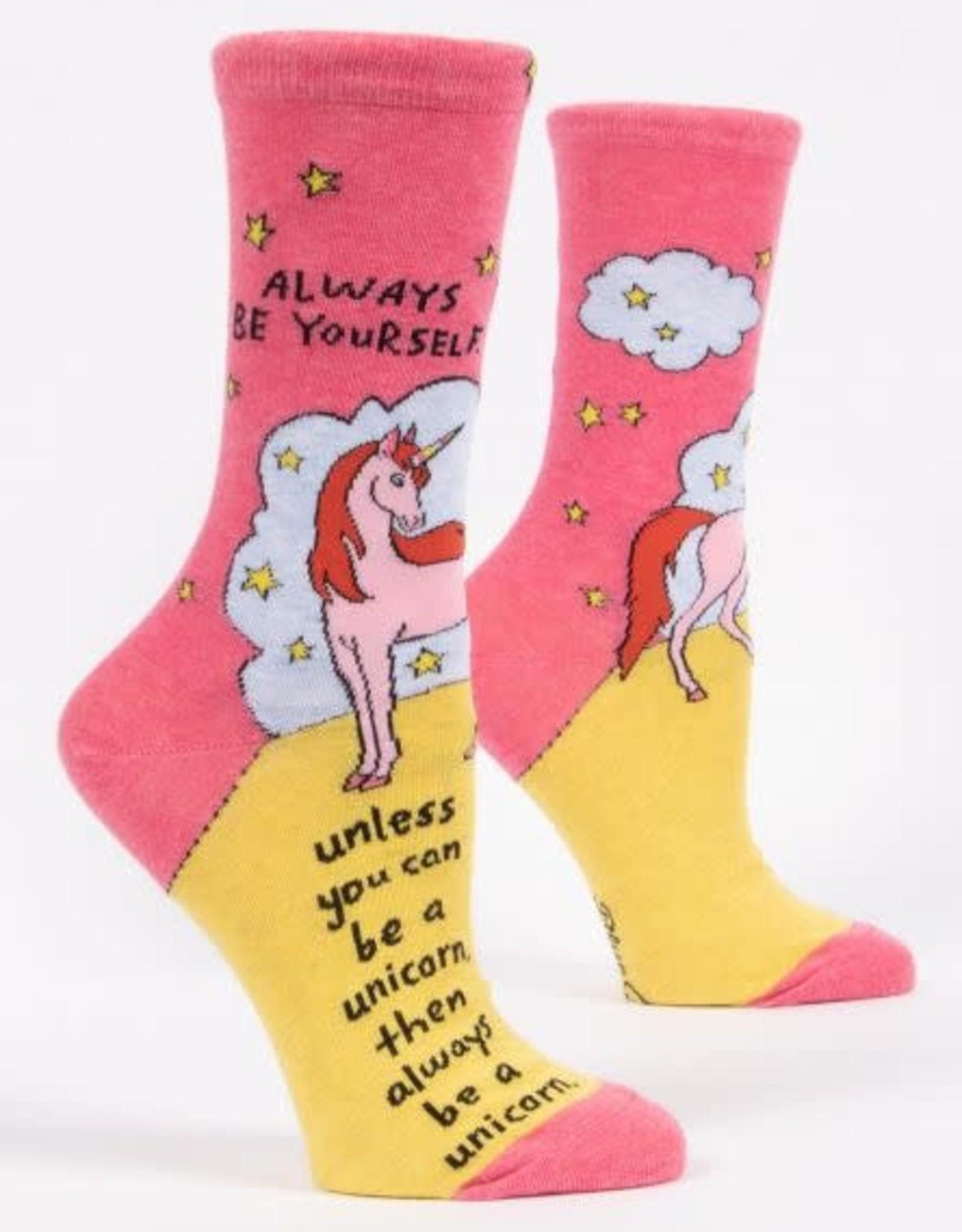 Blue Q BQ Always Be A Unicorn Socks