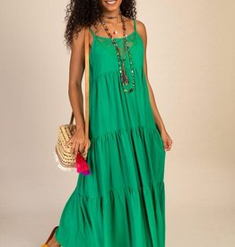 Natural Life Megan Maxi Dress  Green Large