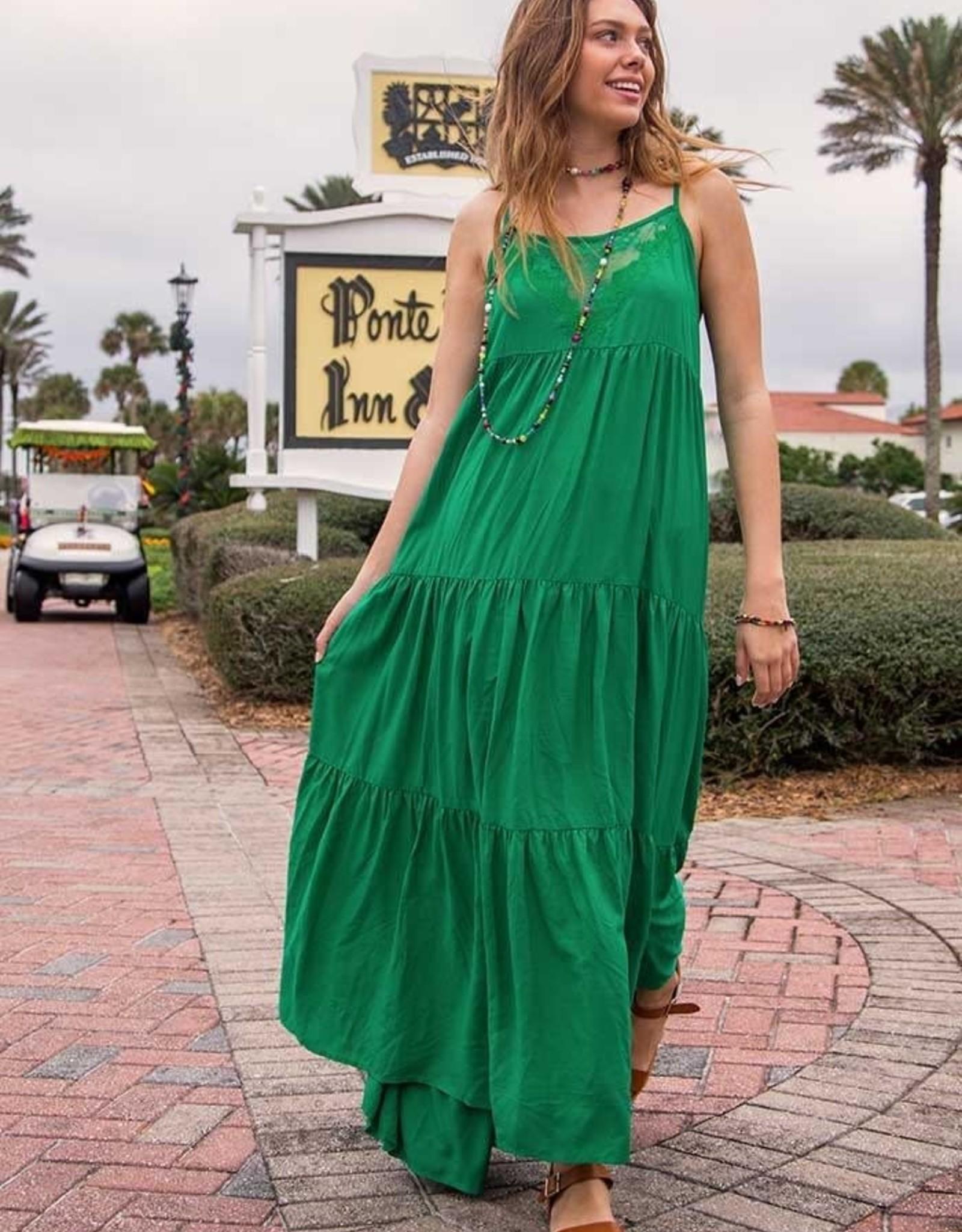 Natural Life Megan Maxi Dress Green Large