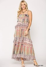 Upmost Ruffled Tiered Maxi Dress