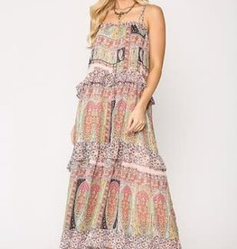Upmost Ruffled Tiered Maxi Dress