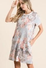 Trend Shop Floral Print Short Sleeve Spring Dress