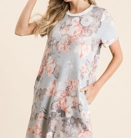 Trend Shop Floral Print Short Sleeve Spring Dress