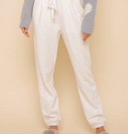 Hem & Thread Fleece SweatPants White