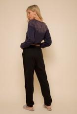 Hem & Thread Fleece Sweatpants (Black)