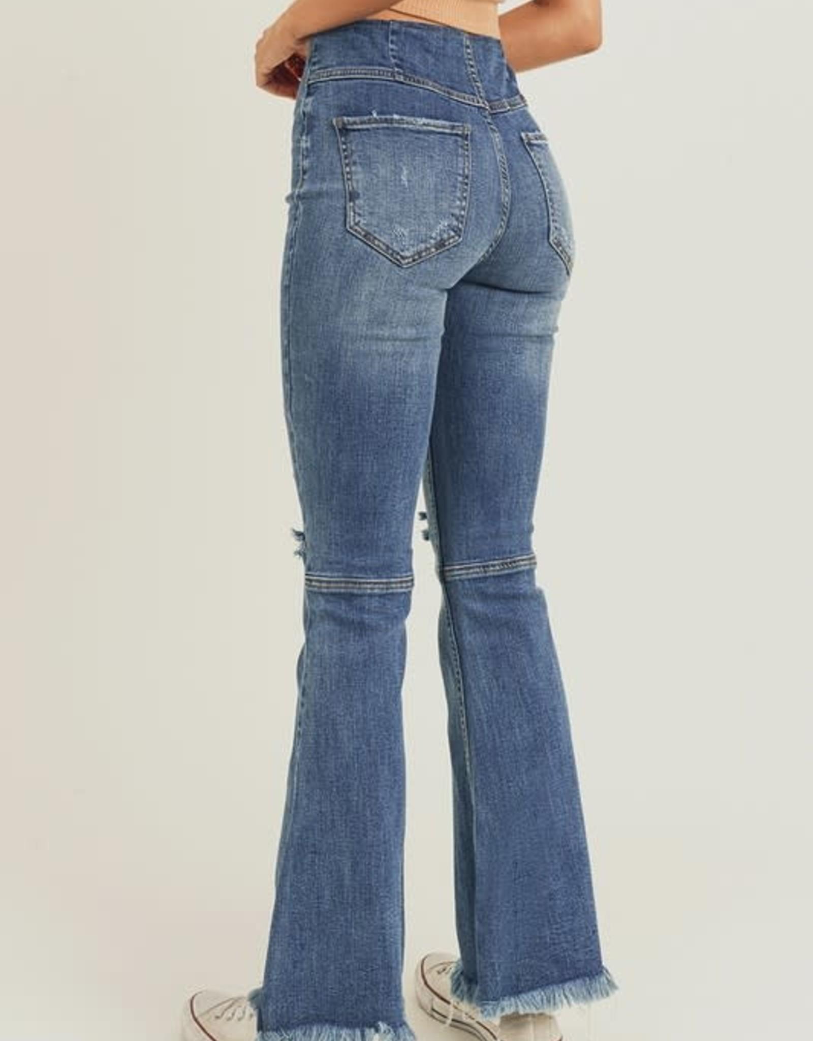 Risen Risen Pull On Flare Jeans