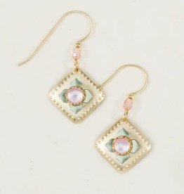 Holly Yashi Mother Of Pearl Gold Petit Four earrings