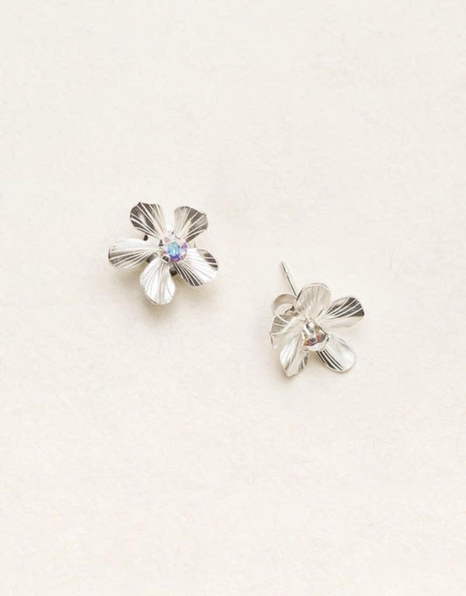 Holly Yashi Holly Yashi Silver Plumeria Post Earrings