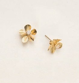Holly Yashi Holly Yashi Gold Plumeria Post Earrings