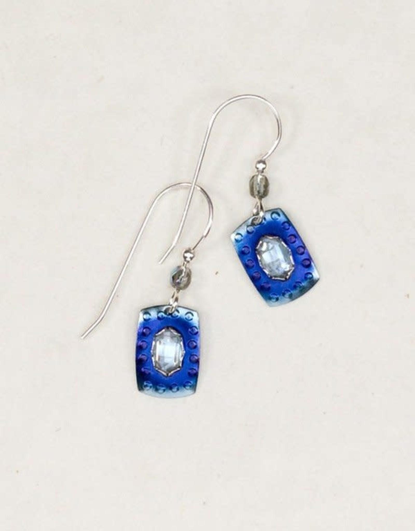 Holly Yashi Blue/CZ Shoreline Earrings