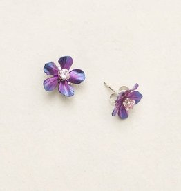 Holly Yashi Purple Rose Petite Plumeria Post Earrings