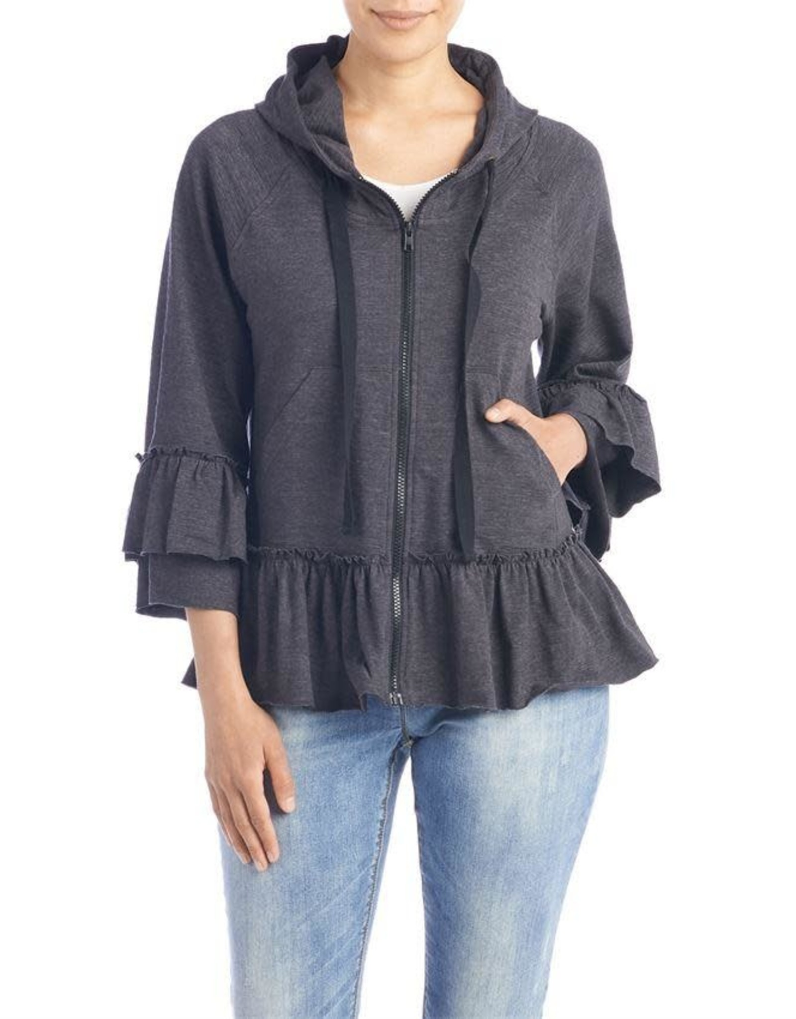 The Good Bead Casey Ruffle Up Hoodie