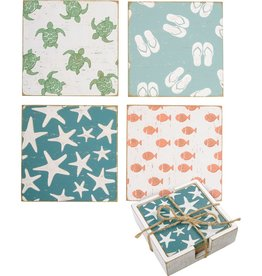 Primitives by Kathy Coaster Set - Beach