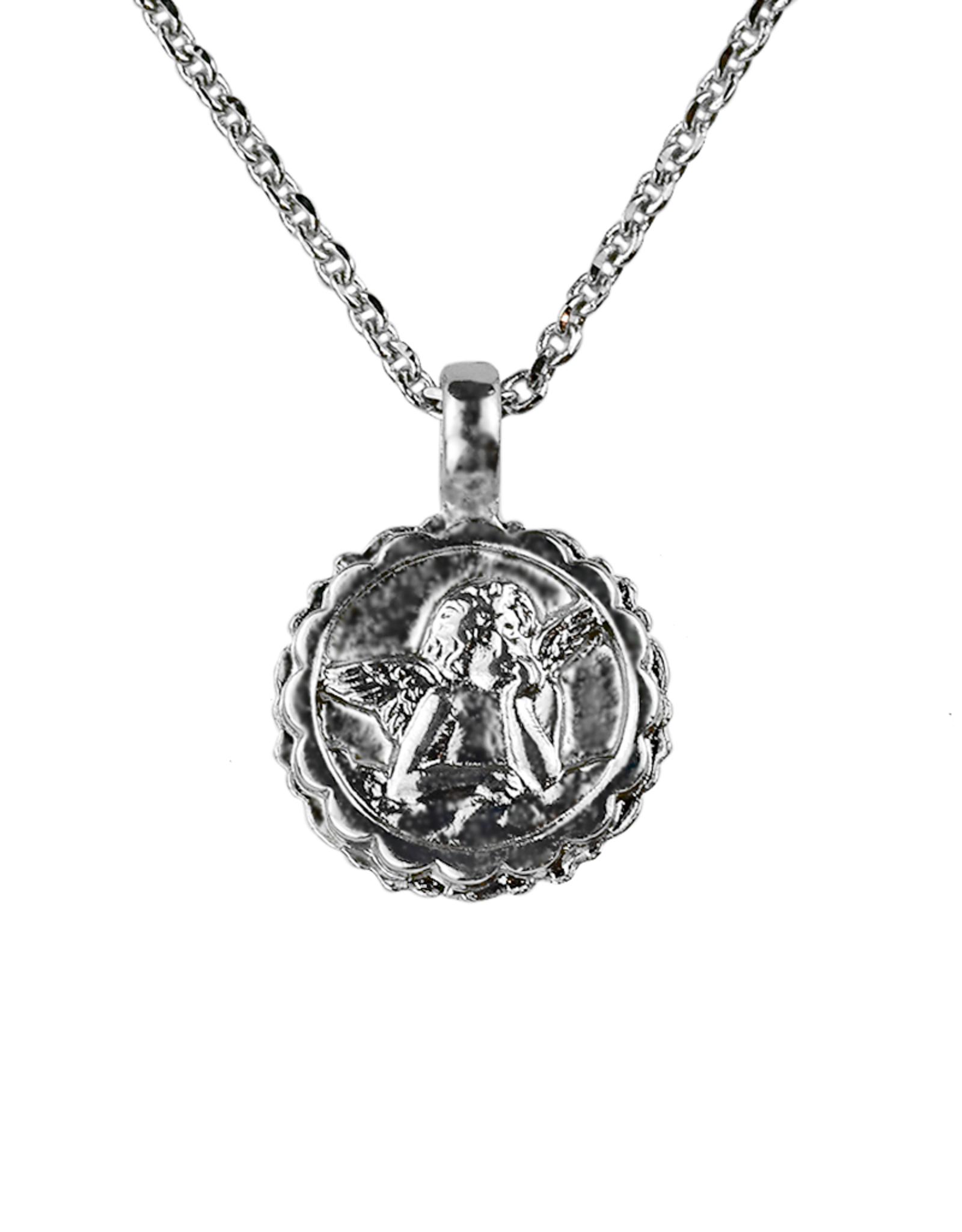 "Mariana Guardian Angel Necklace ""Vintage Rose"" - Rhodium"