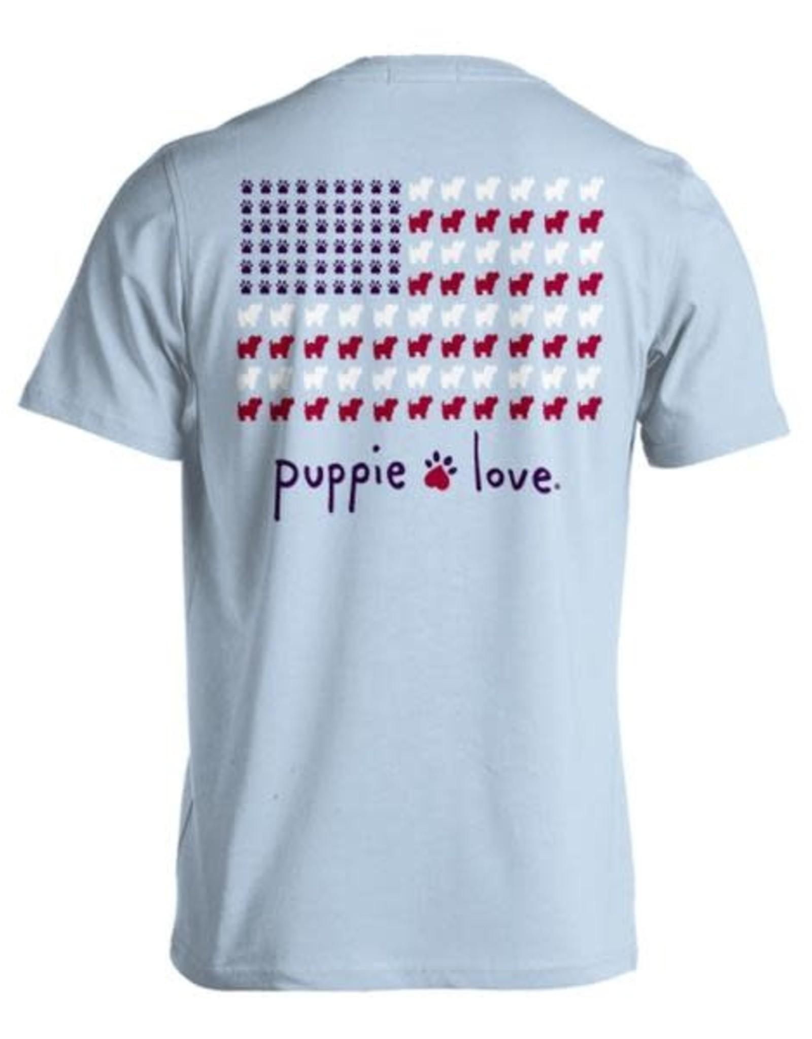 Puppie Love Puppie Love SS Flag Tee