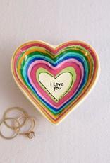 Natural Life Heart Trinket I love you dish
