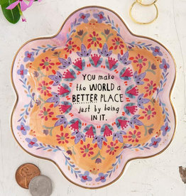 Natural Life World a Better Place Trinket Dish