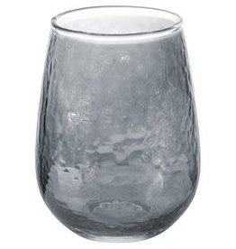 Karma Luster Stemless Wine Glass Grey