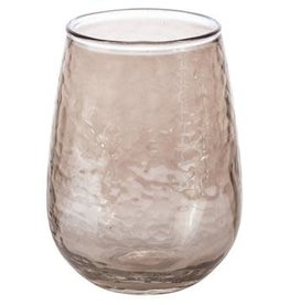 Karma Luster Stemless Wine Glass Amber