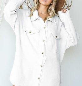 Bucketlist Oversized Shirt/Jacket with Chest Pockets